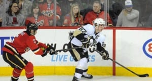 Penguins Sidney Crosby and Flames Mark Giordano