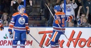 Edmonton Oilers Jordan Eberle and Ryan Nugent-Hopkins