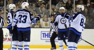 Jacob Trouba and Dustin Byfuglien