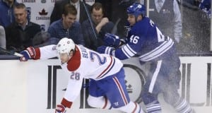 Roman Polak against the Montreal Canadiens