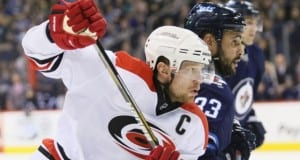 Eric Staal and Dustin Byfuglien