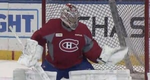 Carey Price practice with Montreal Canadiens teammates yesterday