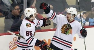 Andrew Shaw and Artemi Panarin