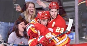 Sean Monahan and Johnny Gaudreau