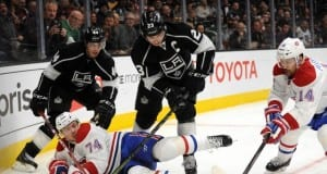 Vincent Lecavalier and Dustin Brown