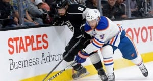 Taylor Hall of the Edmonton Oilers and Drew Doughty of the LA Kings