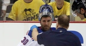 Henrik Lundqvist of the NY Rangers
