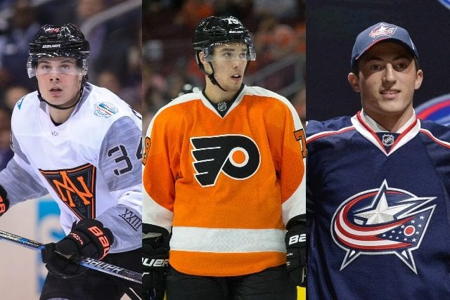 Auston Matthews, Ivan Provorov and Zach Werenski are three of the top 10 calder candidates