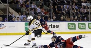 The Boston Bruins and Ryan Spooner have an arbitration hearing set for today