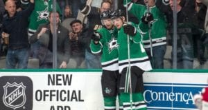 Valeri Nichushkin and Jason Spezza of the Dallas Stars