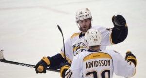 The Nashville Predators sign Viktor Arvidsson to a seven-year deal