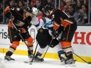 Ryan Kesler and Hampus Lindholm
