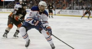 Edmonton Oilers defenseman Andrej Sekera joined teammates at practice yesterday for the first time since his ACL injury.