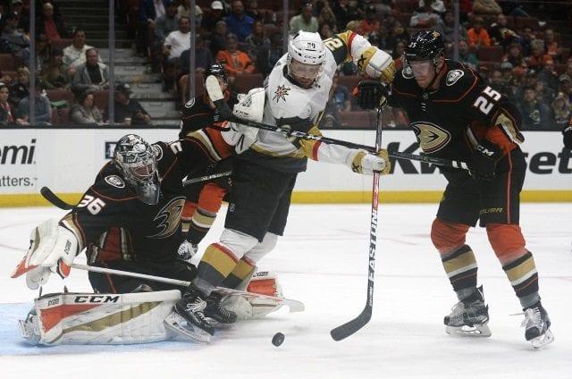 Both John Gibson and Ondrej Kase left last night's Anaheim Ducks game early