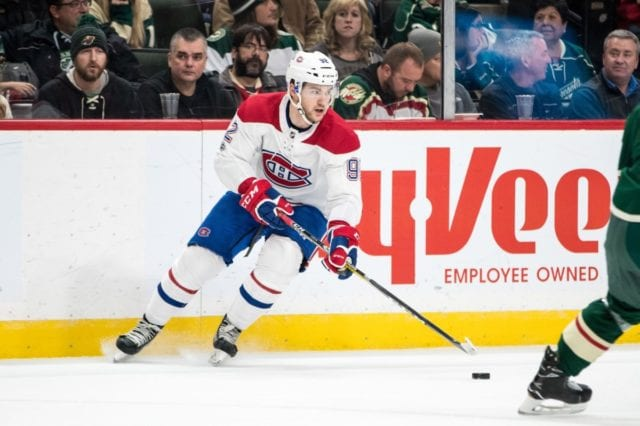 Montreal Canadiens Jonathan Drouin missed last night's game with an injury