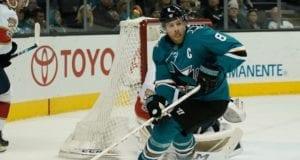 San Jose Sharks captain Joe Pavelski is playing through an injury