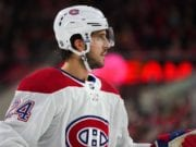 Montreal Canadiens Phillip Danault was taken to hospital after taking a Zdeno Chara shot to the head.