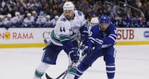 The Toronto Maple Leafs have made an offer for Canucks defenseman Erik Gudbranson.