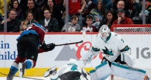 San Jose Sharks goaltender Martin Jones is day-to-day with a minor lower-body injury
