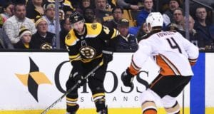 Boston Bruins forward David Backes left last night's game early.