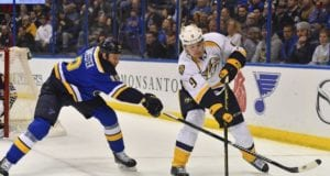 Jay Bouwmeester will skip most practices. Filip Forsberg out four to six weeks