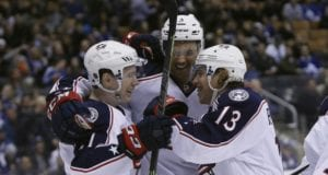 Columbus Blue Jackets Cam Atkinson and Brandon Dubinsky skated yesterday and are progressing.