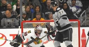 Jeff Carter to practice when Kings return home. Still no timetable on Corey Crawford