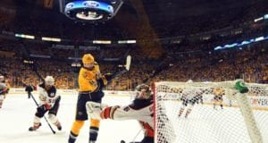 John Gibson out with a lower-body injury. Mike Fisher coming out of retirement to join the Predators.