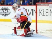 Mike Smith appears to injure his groin with a second left.