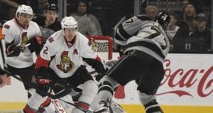 The Los Angeles Kings have shown interest in Ottawa Senators defenseman Dion Phaneuf